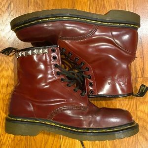 DR MARTENS 8 eye red leather boots | Men's 8